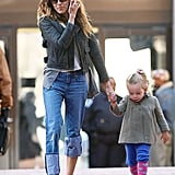 Sarah Jessica Parker took daughter Loretta to school in NYC Tuesday.