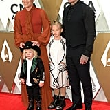 Pink, Jameson Hart, Willow Hart, and Carey Hart at the 2019 CMA Awards