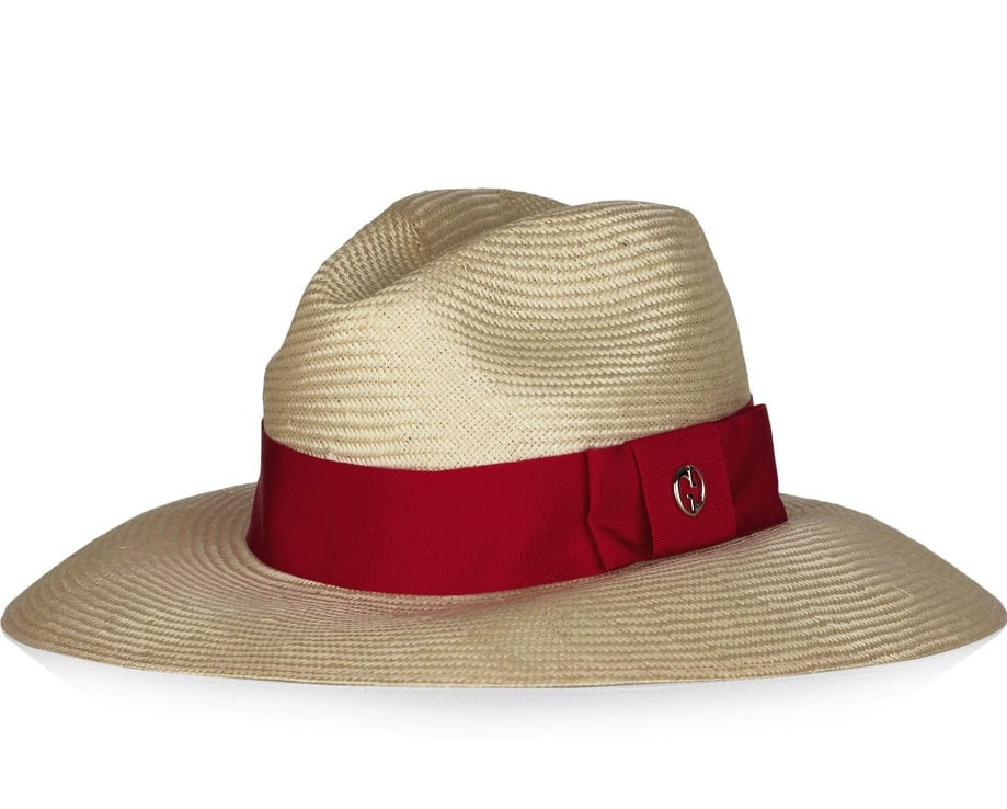 Consider this a must-pack essential; we love the chic feel of this classic Riviera-style fedora. Just pair it with oversize sunglasses and you're set. Gucci Grosgrain-Trimmed Straw Fedora ($375)