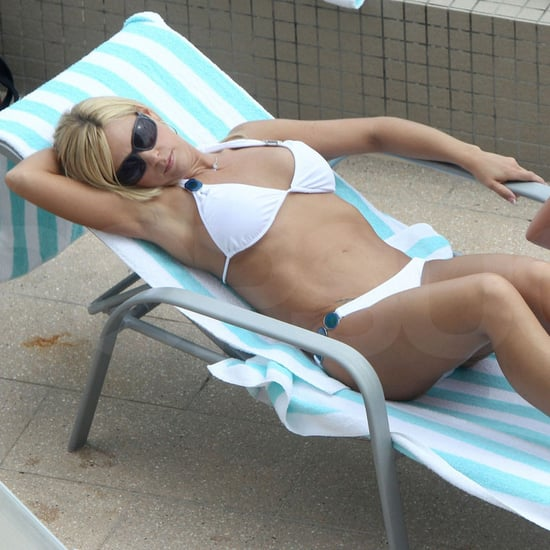 Pictures of Kate Gosselin in a White Bikini