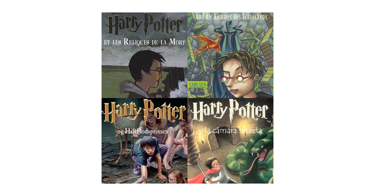 Harry Potter Book Cover Collage : Harry potter international book covers popsugar tech