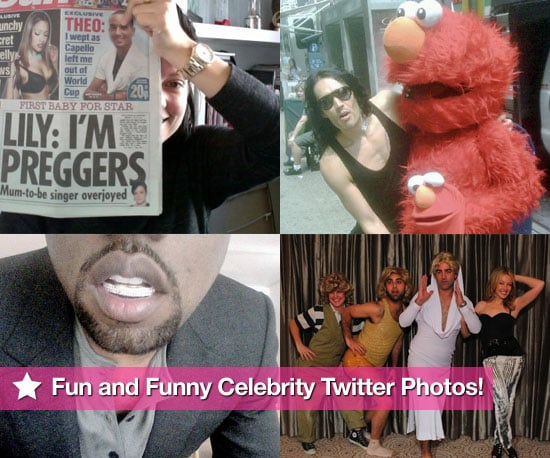 Pictures of Pregnant Lily Allen, Russell Brand, Kanye West, Kylie & More in This Week's Fun and Funny Celebrity Twitter Photos!