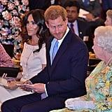 Meghan Markle Pink Prada Dress at Queen's Leader Awards 2018
