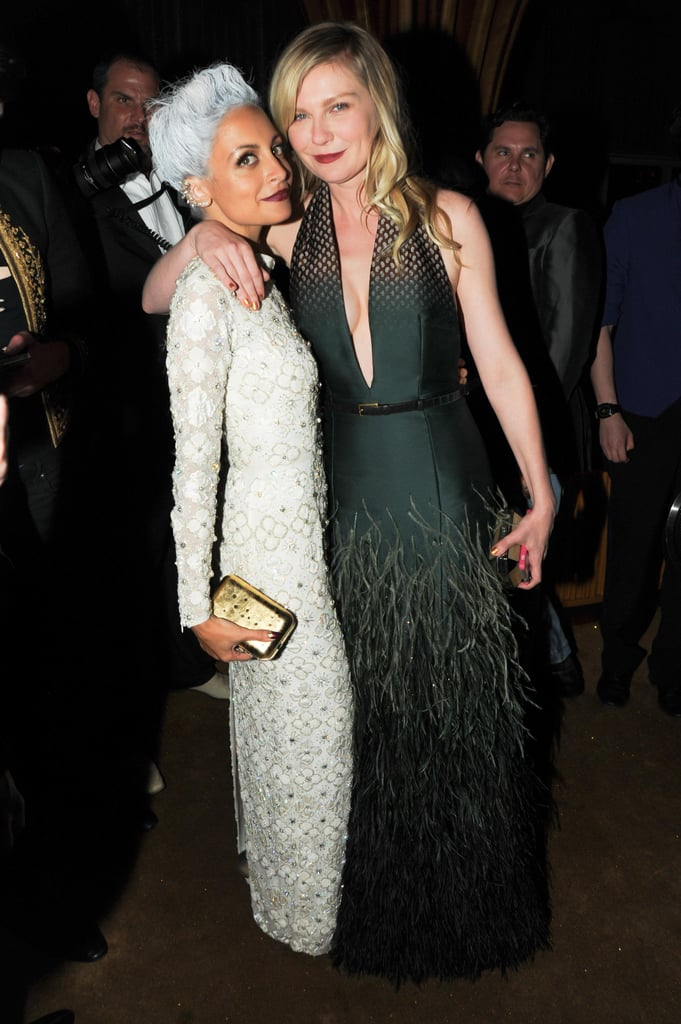 Nicole Richie and Kirsten Dunst shared a moment at the bash. Source: Neil Rasmus/BFAnyc.com
