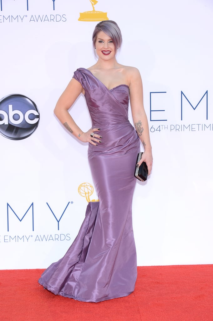 Kelly Osbourne stepped out in a purple gown for the Emmys.