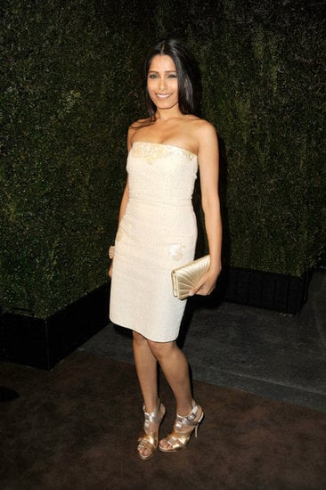 Freida wore a strapless dress from the Spring/Summer 2012 collection.