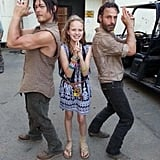 When He Went Full-On Charlie's Angels With Andrew Lincoln and a Little Fan