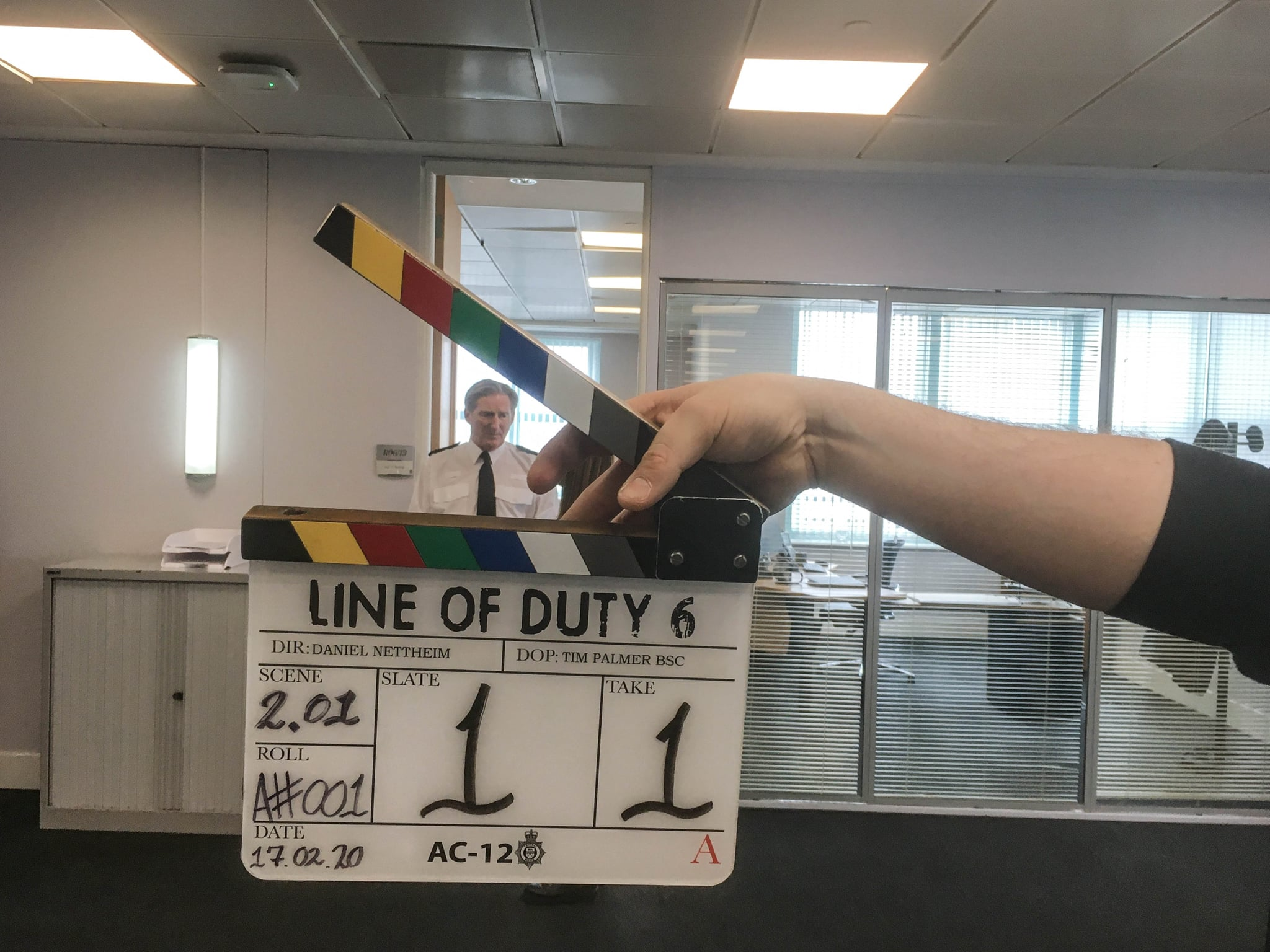 Programme Name: Line of Duty S6 - TX: n/a - Episode: Line Of Duty - 6 Teaser (No. n/a) - Picture Shows: Filming begins on the new series of Line Of Duty. Superintendent Ted Hastings (ADRIAN DUNBAR) - (C) World Productions - Photographer: World Productions