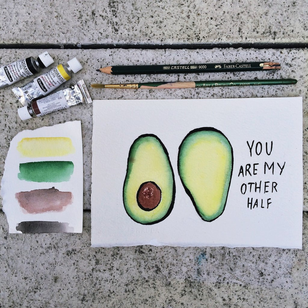 You Are My Other Half Avocado Valentines Day Cards Popsugar