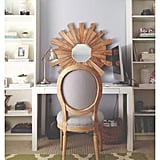 The find: this gray chair that perfectly ties together the room.