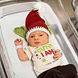 Babies Dressed as Baby Yoda For Christmas | Photos