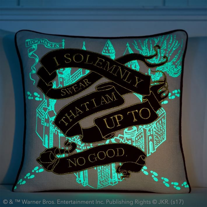 Glow in the Dark Marauder's Map Throw Pillow ($50)