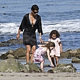 Halle and Nahla Enjoy Another Bikini Beach Day in Malibu!