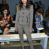 Jamie Chung at the Elie Tahari New York Fashion Week Show