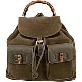 Gucci Vintage Suede Bamboo Backpack