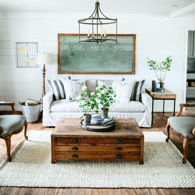 Living Room Ideas Decorating Inspiration fixer upper decorating inspiration | popsugar home