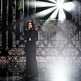 "Selena Gomez Singing ""Lose You to Love Me"" at the AMAs in a Black Turtleneck Dress"