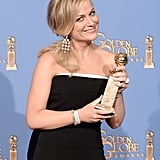 Amy Poehler hammed it up with her award!