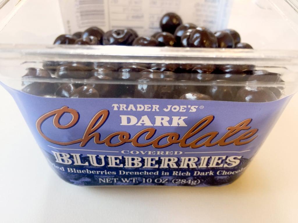 Trader Joe's Dark Chocolate Covered Blueberries ($4)