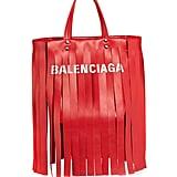 Balenciaga Laundry Cabas Fringe Satchel Bag