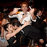 Amanda Peet, David Benioff, and Pedro Pascal