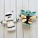 Crocheted Toy Yoda and Stormtrooper