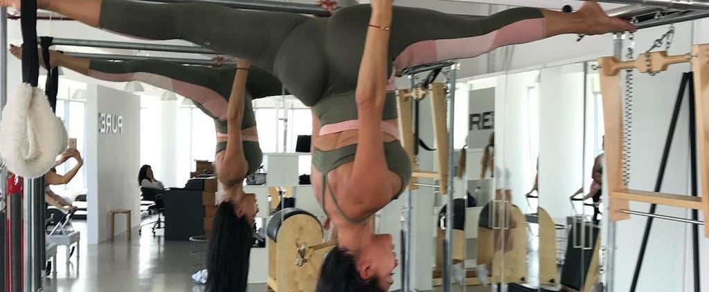 Nicole Scherzinger's First Pilates Class in Dubai