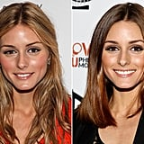 Olivia Palermo: Long textured hair to a sleek lob.