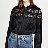 Frame Paneled Lace Top