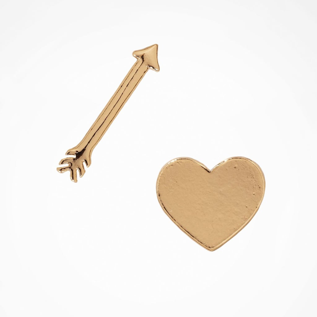 Express Heart and Arrow Stud Earrings
