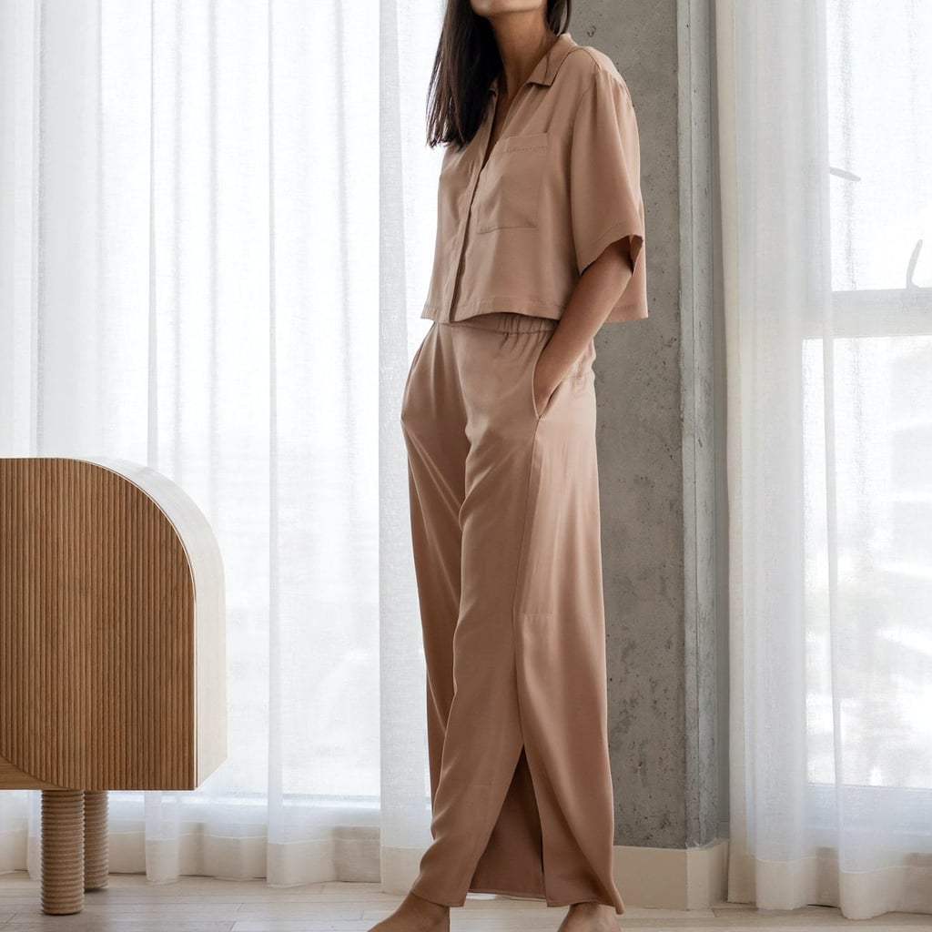 Lunya Washable Silk Button Down Pant Set