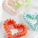 Heart Telephone Cord Hair-Tie Set