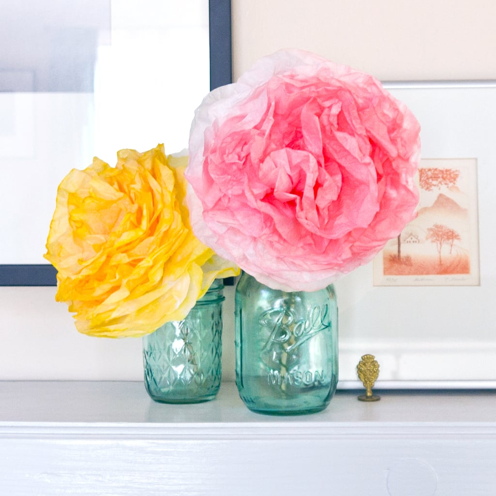 Diy Coffee Filter Peonies Popsugar Smart Living