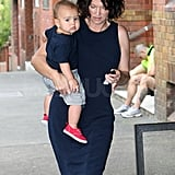 Flynn wore red sneakers.