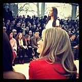 Rosie Huntington-Whiteley took in the Burberry Prorsum show during London Fashion Week. Source: Instagram user rosiehw