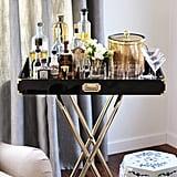 A Luxe Bar Cart