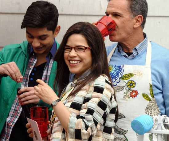 Slide Photo of America Ferrera on the Set of Ugly Betty in NYC