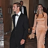 Pierre and his girlfriend attend at the Monaco Formula One Grand Prix dinner in 2010.