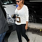 Beyoncé Knowles out in NYC.