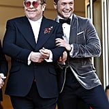 Taron and Elton Being Chuffed About the Neatly Tied Shoe