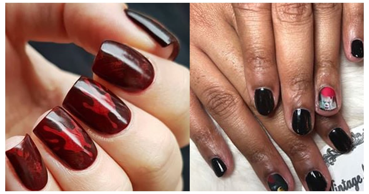 These Halloween Nail Art Looks For Short Nails Are Somehow Both Spooky and Chic