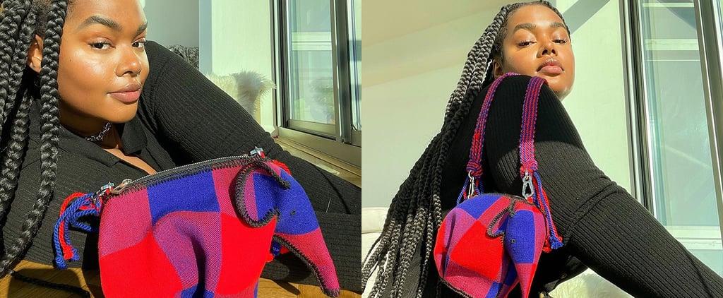 Precious Lee Wears Loewe's Elephant Bag to Protect Wildlife
