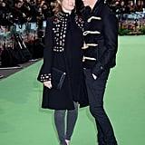 Pictured: Hannah Bagshawe and Eddie Redmayne.
