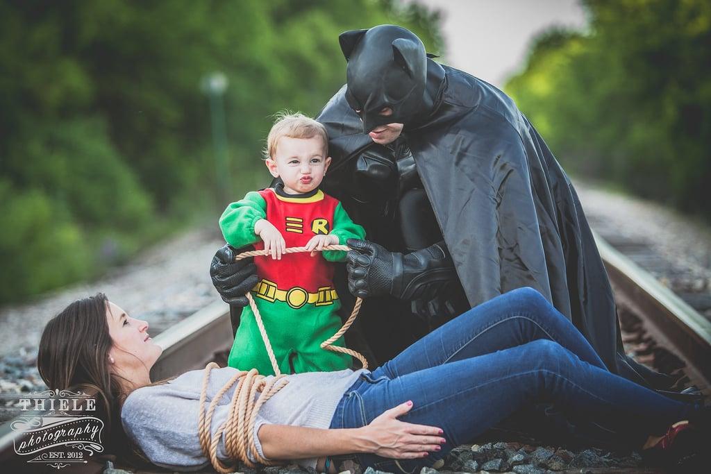Batman-Themed Family Photos