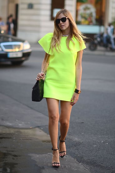 This little neon dress has all the ease of a day dress — plus major statement power.  Photo courtesy of Lookbook.nu