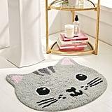 Grey Cat Bath Mat