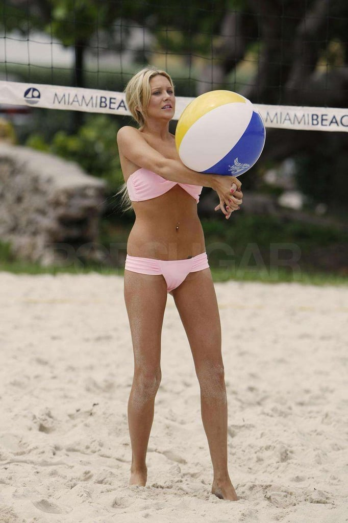 Photos of Stephanie Pratt in a Pink Bikini