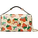 Gucci Mini Zumi Strawberry Print Leather Shoulder Bag