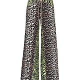 Ganni Leopard-print wide-leg cotton pants