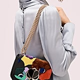 Nicola Beaded Intarsia Twistlock Convertible Chain Shoulder Bag